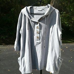 Susan Graver Hooded Sweatshirt